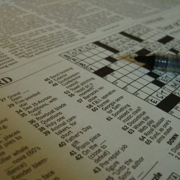 Can Crosswords be Art?