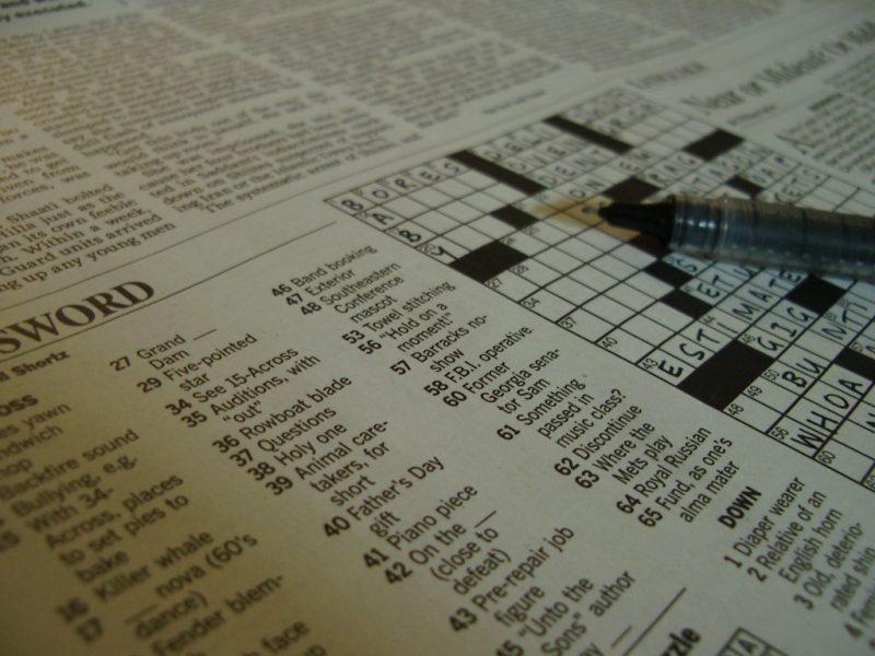 Sputnik Faith and Arts Can Crosswords be Art?