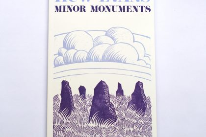 Sputnik Faith and Arts Huw Evans' poetry collection 'Minor Monuments' is available now